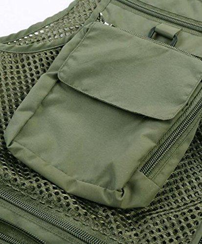 Impermeabile All'aria Aperta Gilet Multi-tasca Tattici Degli Uomini Giacche Green