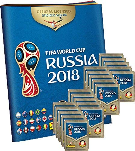 Panini WM Russia 2018 - Sticker - 1 Album + 20 Tüten