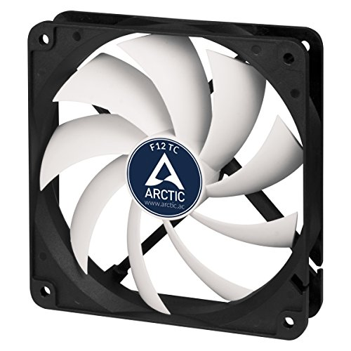 ARCTIC F12 TC - Temperaturgesteuerter 120 mm Gehäuselüfter | Standard Case Fan | Temperatursensor reguliert RPM | Push- oder Pull-Konfiguration