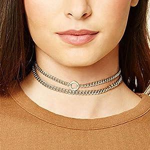 XUHAHAXL Halskette/Street-Foto-Produkte, Personalisierte Nacht Shop-Zubehör, Metall-Kette Halskette Halskette