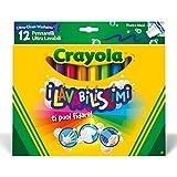 Crayola I Lavabilissimi Pennarelli Ultra-Lavabili, Punta Maxi, per Scuola e Tempo Libero, Colori Assortiti, 12 Pezzi, 58-8329