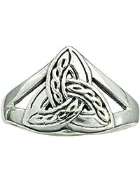Triskele Trinity - Anillo de plata de ley 925 con nudo celta (4 g)