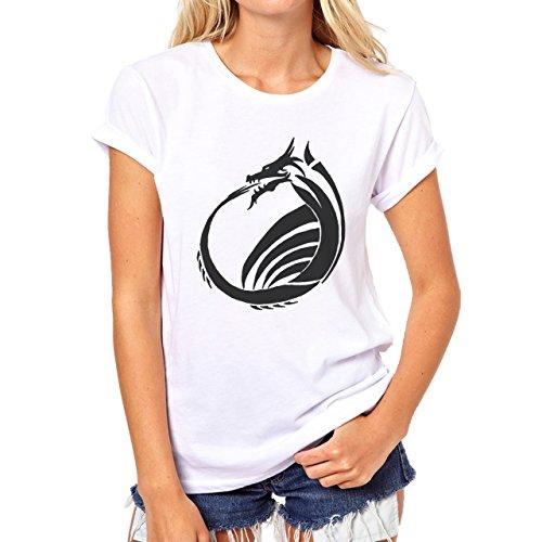 Butterfly Dragon Symbol Damen T-Shirt Weiß