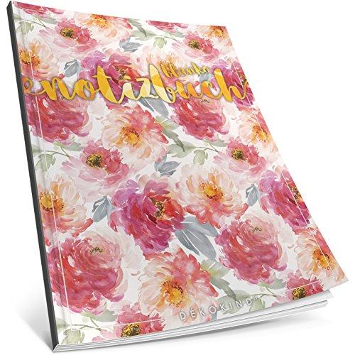 Dékokind® Blanko Notizbuch: Ca. A4-Format • 100 Seiten mit Inhaltsverzeichnis • Perfekt als...