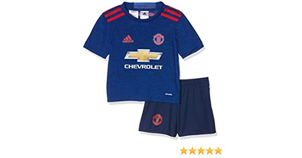 af74947cc6a adidas MUFC A MINI - 2nd football kit Outfit of Manchester United 2015 16  for Unisex Children  adidas  Amazon.co.uk  Sports   Outdoors