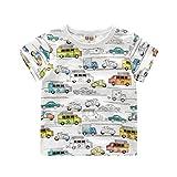 YAANCUN Niños 100% Algodón Kids Escote Redondo T-Shirt With Print Camiseta Para Bebés