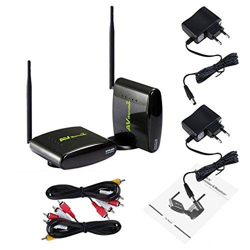 Iptv-dvr (PAKITE PAT-360 350 Meter 2,4 GHz Wireless RCA Audio Video Sender Empfänger Sender für CCTV Kamera DVD IPTV)