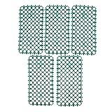 perfk 5pcs Ringmatte Lochmatte Wabenmatte für Baby-Vögel - Grün