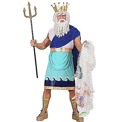 Widmann 73603 - Erwachsenenkostüm Poseidon, Größe L