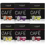 VIAGGIO ESPRESSO - 60 capsules de café compatibles avec Nespresso - SÉLECTION SANS DECAFFEINATO | Comprend Espresso Verona Intense Arabica Capsule Aromatisée Pack