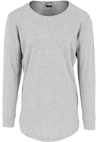 Urban Classics TB1101 Herren Langarmshirt Shaped Fashion Long Sleeve Tee Grau