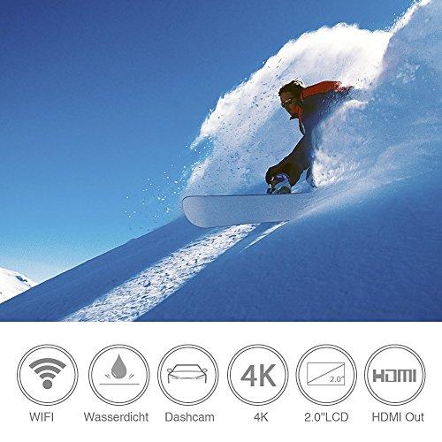 WiMiUS Action-Kamera 4K Action Cam 1080P 16MP Sport Action Kamera Wasserdichte Helmkamera - 2