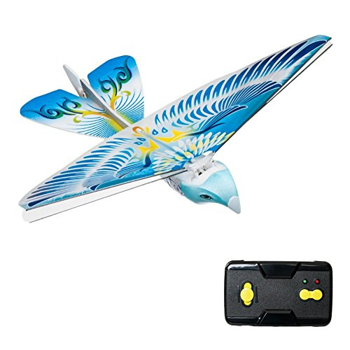 Flying Avitron Bionic Blue Bird Ornithopter RC Remote Control Toy PVC Flying Bird