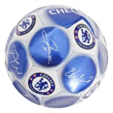 Chelsea FC Official Signature Crest Football (Size 5) (One Size) (Blue/White)