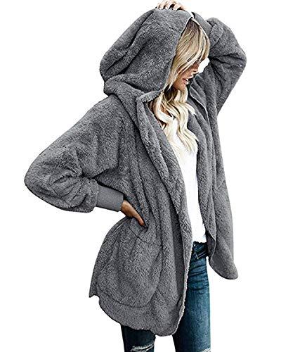 Abravo Mujer Abrigo Chaqueta Invierno Otoño Sudadera
