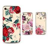 Freessom Lot de 3 Coque iPhone 6 plus/6s Plus Silicone Motif Fleur Floral Exotique...