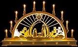 Schwibbogen Christi Geburt mit LED-Innenbeleuchtung - 78×45 cm