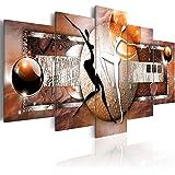 murando Cuadro en Lienzo 200x100 cm - 3 tres colores a elegir - 5 Partes - Formato Grande - Impresion en calidad fotografica - Cuadro en lienzo tejido-no tejido - abstraccion 020101-221 200x100 cm