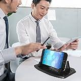 [Neue Version] Ipow® Universal Silikon Handyhalterung Antirutschmatte Auto & Haus Doppelzweck Handy Halterung Ständer für Smartphone wie iPhone 7 7 Plus 6s 6 5 4 Samsung Galaxy S7 S6 S5 S4, Mit 2 Größe Halterteile - 7