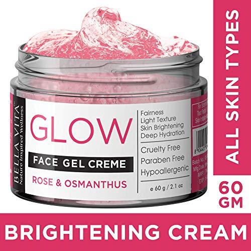 Bella Vita Organic Face Gel Night Cream For Women & Men All Skin Types With Rose & Osmanthus   Radiance & Shine