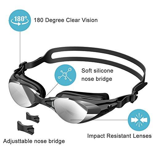 Zoom IMG-1 szdavsi occhialini da nuoto silicone