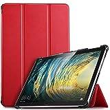 IVSO Hülle für Huawei MediaPad M5 Lite 10, Ultra Schlank Slim Schutzhülle Hochwertiges PU mit Standfunktion Perfekt Geeignet für Huawei MediaPad M5 Lite 10 10.1 Zoll 2018 Modell, Rot