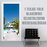 XXL-Tapeten Türtapete selbstklebend TürPoster Ocean Flair im Format 90x210cm - Türfolie Klebefolie von Trendwände