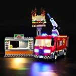 LIGHTAILING Set di Luci per (City Fire Fiamme al Burger Bar) Modello da Costruire - Kit Luce LED Compatibile con Lego… LEGO