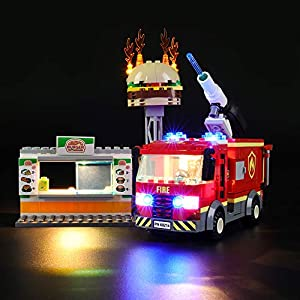LIGHTAILING Set di Luci per (City Fire Fiamme al Burger Bar) Modello da Costruire - Kit Luce LED Compatibile con Lego… 0781621988860 LEGO