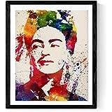 Nacnic Lámina para enmarcar Frida Kahlo Estilo Acuarela. Poster XXL. Poster con imágen de
