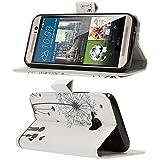 HTC One M9 Hülle Klapphülle von NICA, Slim Flip-Case Kunst-Leder Vegan, Phone Etui Schutzhülle Book-Case, Dünne Vorne Hinten Handy-Tasche Wallet Bumper für HTC One M9 - Big Love Edition -