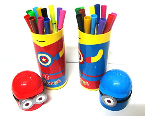 Art box new MINION design box sketch Pen set of 2 box with 12*2 =24 pens