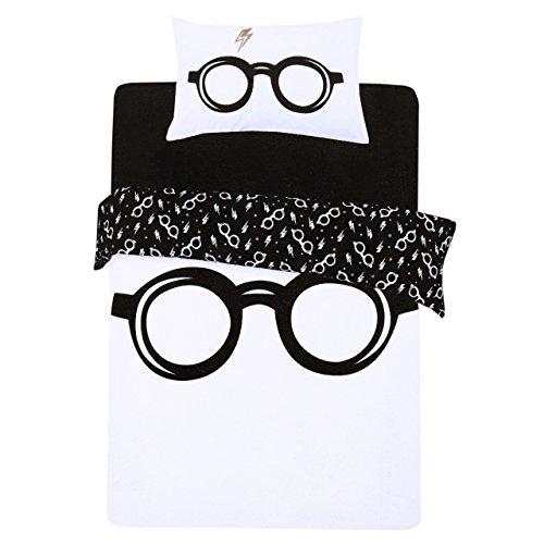 Juego de Cama Blanco y Negro 135x200 Harry Potter