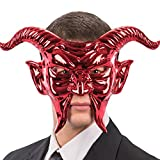 Carnival Toys 797 Maske Roter Teufel, Metallic, one Size