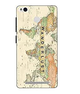 Snazzy Wanderlust Printed Multicolor Hard Back Cover For Xiaomi Redmi 3S