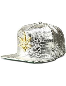 mcsays moda hip hop estilo Crystal CZ Iced Out Weed colgante Gan marijna hoja ajustable Snapback gorra de béisbol...