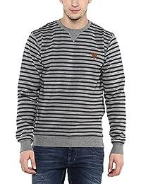 Proline Mens Round Neck Stripe Sweatshirt