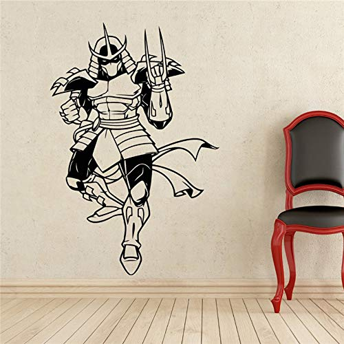 hllhpc Aktenvernichter Wandtattoo Schildkröten Ninja Superheld Vinyl Aufkleber Wanddekor Abnehmbare wasserdichte Aufkleber 54 * 80 cm