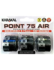 Karakal punto 75Aire para raqueta de tenis, 3unidades, color negro