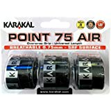 Karakal Point 75Air Overgrip 3Pack, color negro
