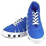 Footies Teen Luxus Bequem Gefüttert Fußball Läufer Winterstiefel Pantoffeln - Blau, 4/5 UK