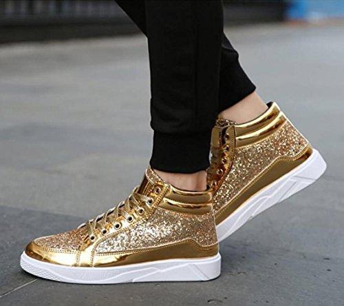 ginnastica gold RDJM Scarpe da Scarpe ginnastica scarpe da da uomo uomo in da metallo Scarpe vqxvH6R