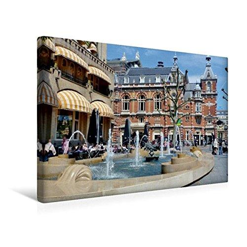 Preisvergleich Produktbild Premium Textil-Leinwand 45 cm x 30 cm quer, Amsterdam - Amerikan Hotel - Hampshire Eden / Stadttheater am Leidseplein | Wandbild, Bild auf Keilrahmen, ... Leinwand, Leinwanddruck (CALVENDO Orte)