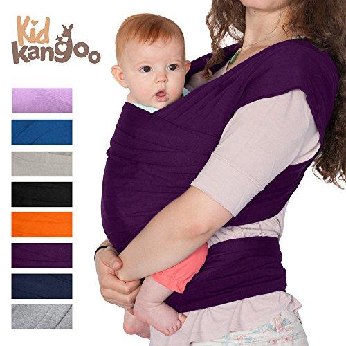 Fular portabebés elástico para transportar a tú bebé – Pañuelo portabebé de algodón y lycra – Porta bebé para hombre...