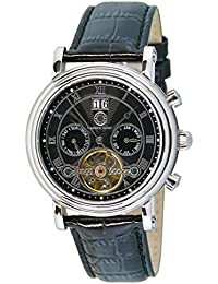 Constantin Durmont Herren-Armbanduhr XL Salinas Analog Automatik Leder CD-SALI-AT-LT-STST-BK