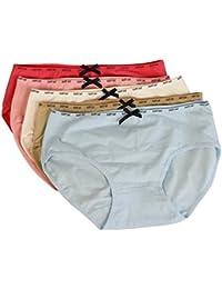 Dihope Lot de 7 Culotte Coton Lingerie Respirante et Confortable pour Femmes  Sexy Slips Taille Basse 00d47680edc3