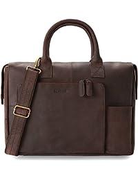 LEABAGS Pittsburgh sac à main rétro-vintage en véritable cuir de buffle