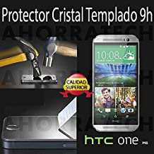 Protector pantalla cristal templado para HTC ONE M8, film templado, vidrio templado ULTRA RESISTENTE y GRAN CALIDAD de AHORRATECH
