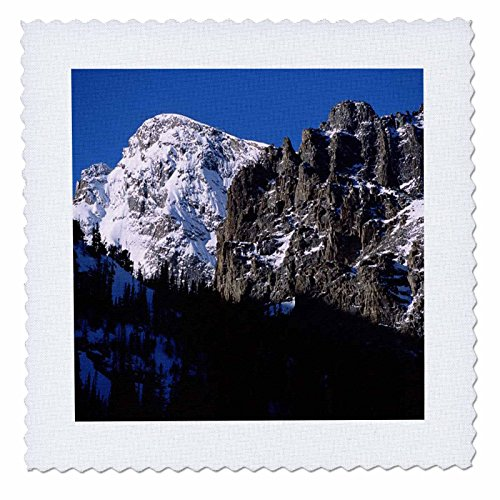 3dRose qs_26280_2 Glacier Gorge Rocky Mountain National Park Quilt Square, 15,2 x 15,2 cm Rocky Mountain Quilt