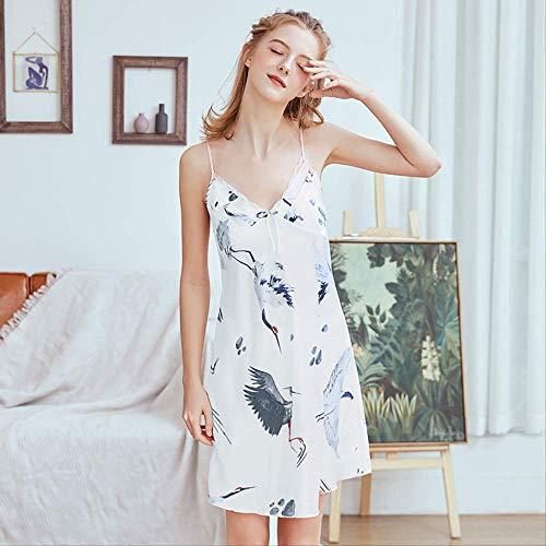 NSSYSKS New Multi Farben M l XL Größen Nachthemd für Frauen im Frühling und Sommer Nachthemden mit Tiere Druck hausgemachte Kostüme XL - Eine Hausgemachte Kostüm